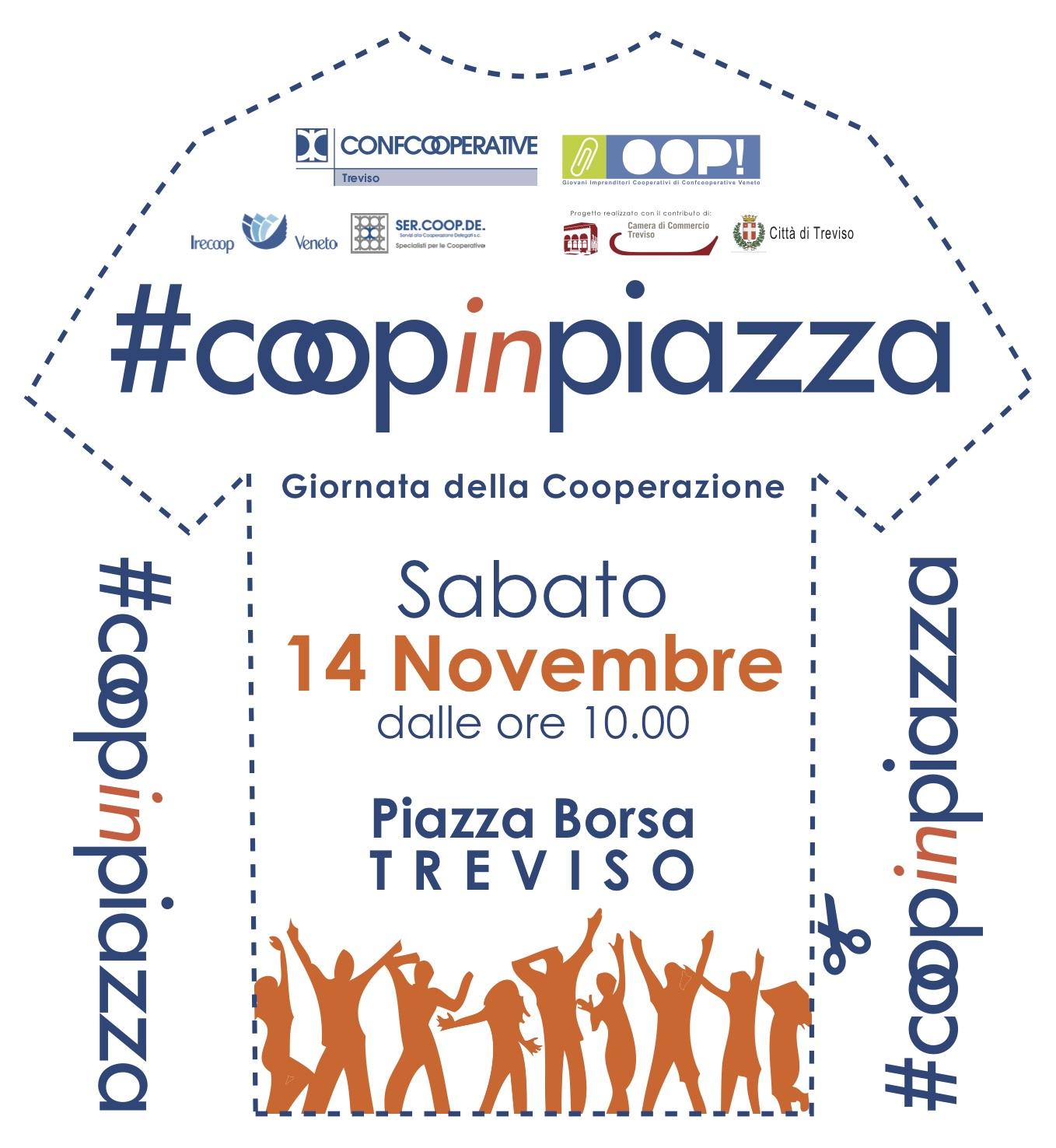 #Coopinpiazza il 14 novembre in Piazza Borsa a Treviso