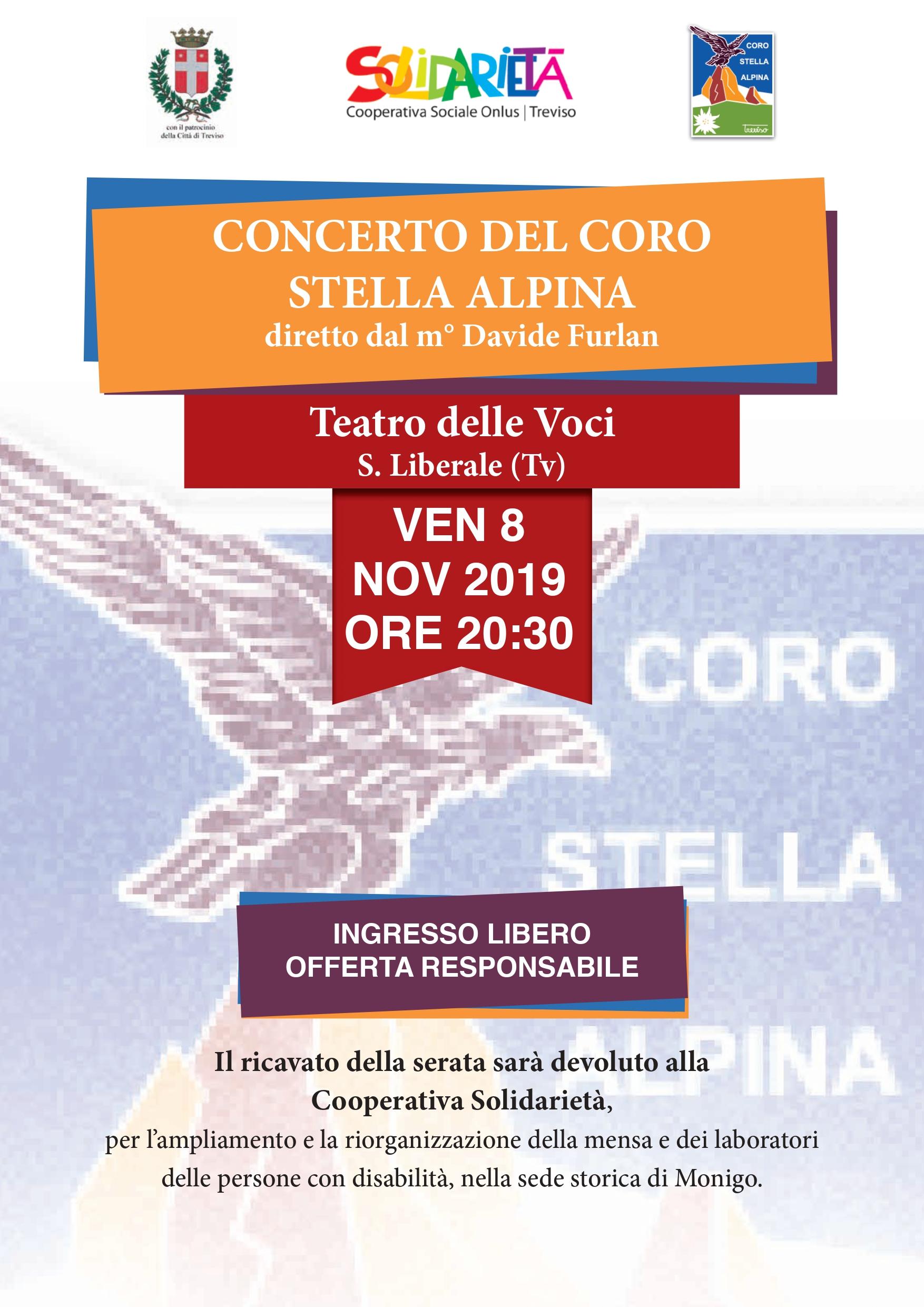 Concerto del Coro Stella Alpina | 8 novembre 2019